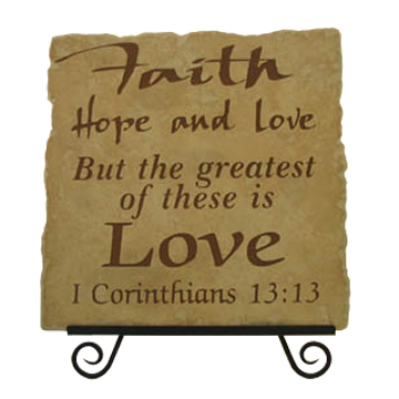 "love shows a faith that cares. ""I agree."
